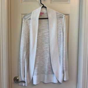 Lilly Pulitzer White Cardigan Size L
